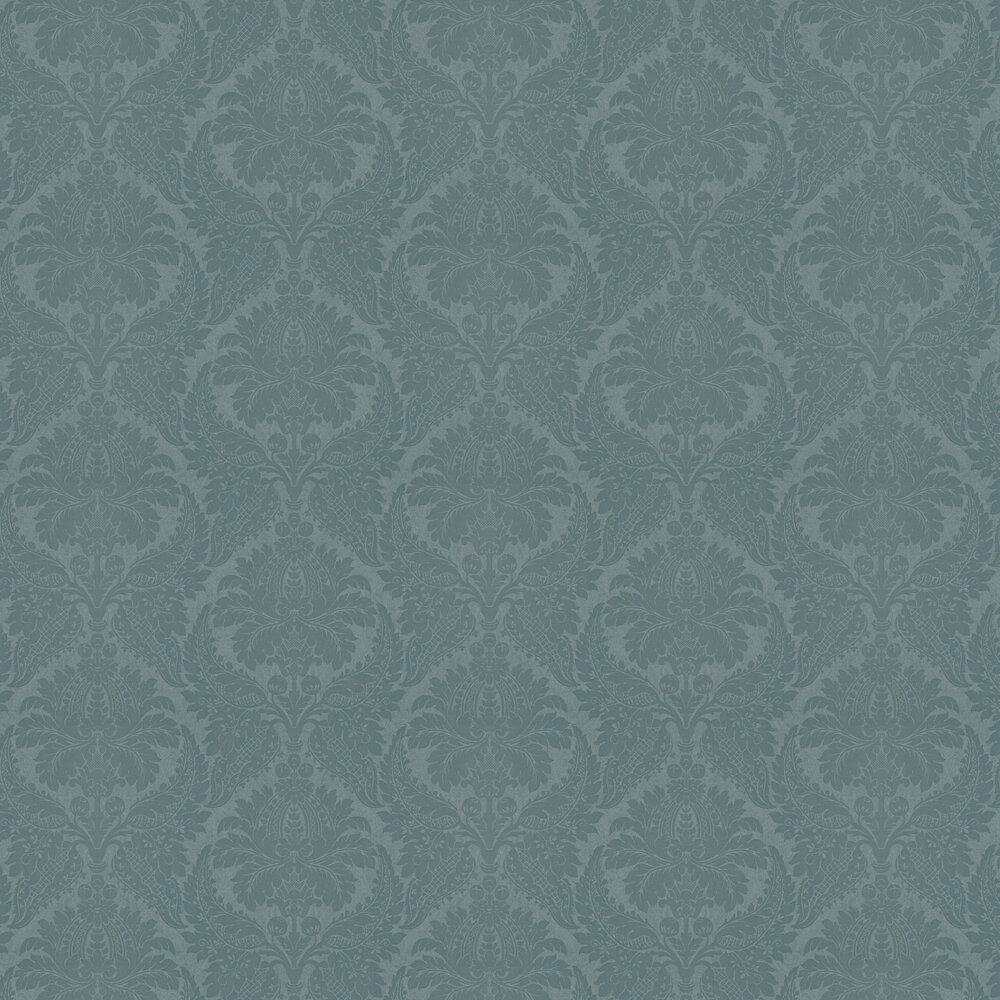 Malmaison Wallpaper - Teal - by Zoffany