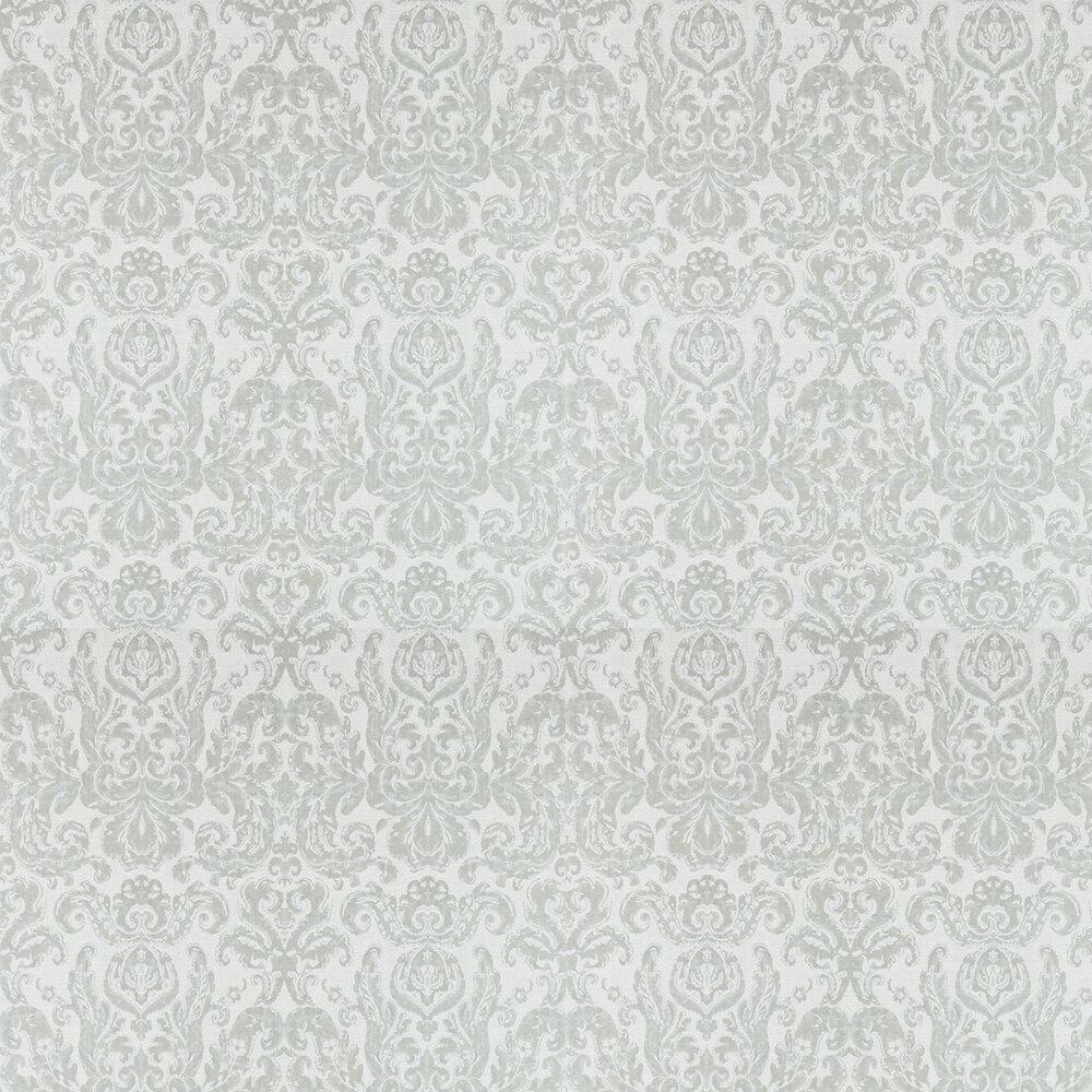 Brocatello Wallpaper - Silver - by Zoffany