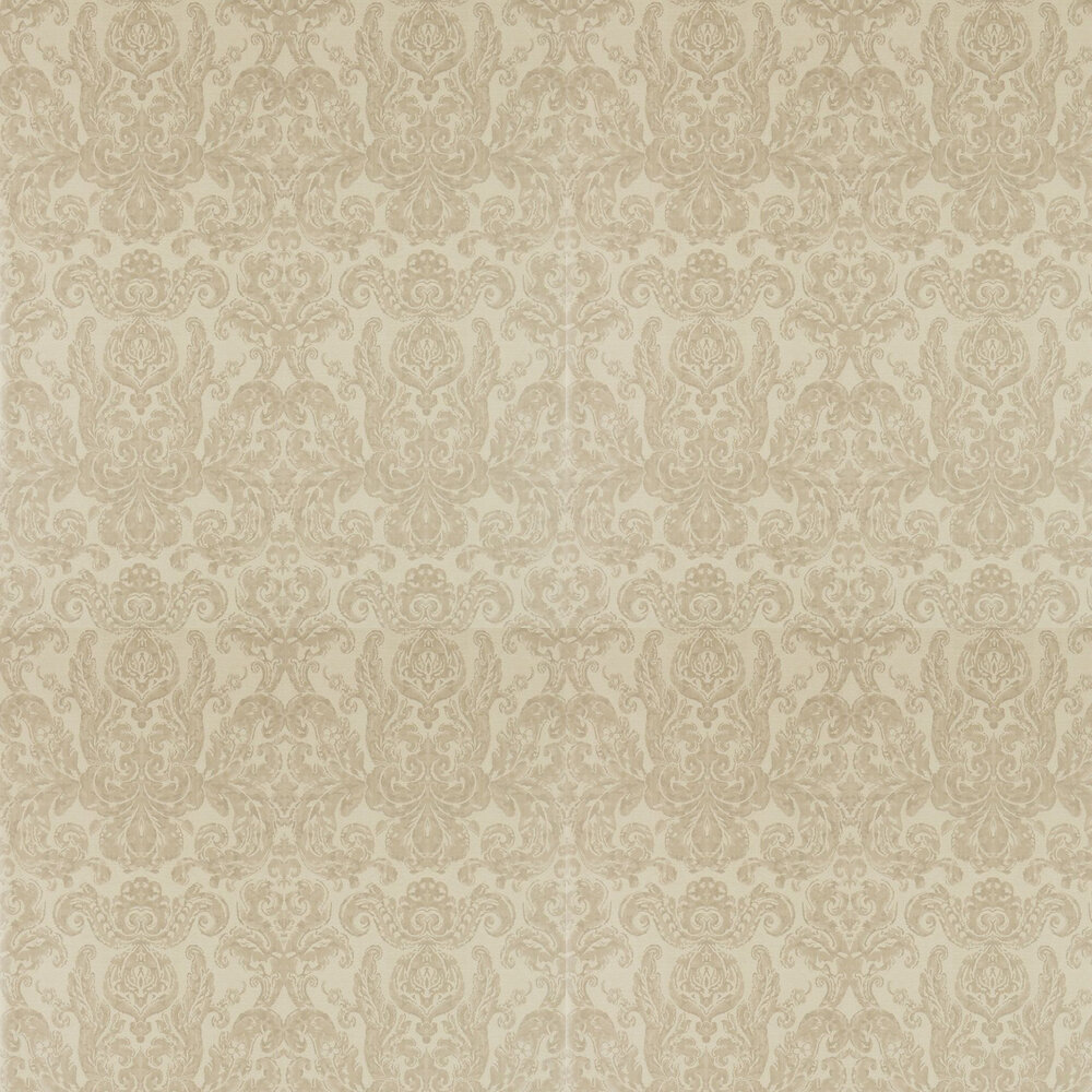 Brocatello Wallpaper - Taupe - by Zoffany