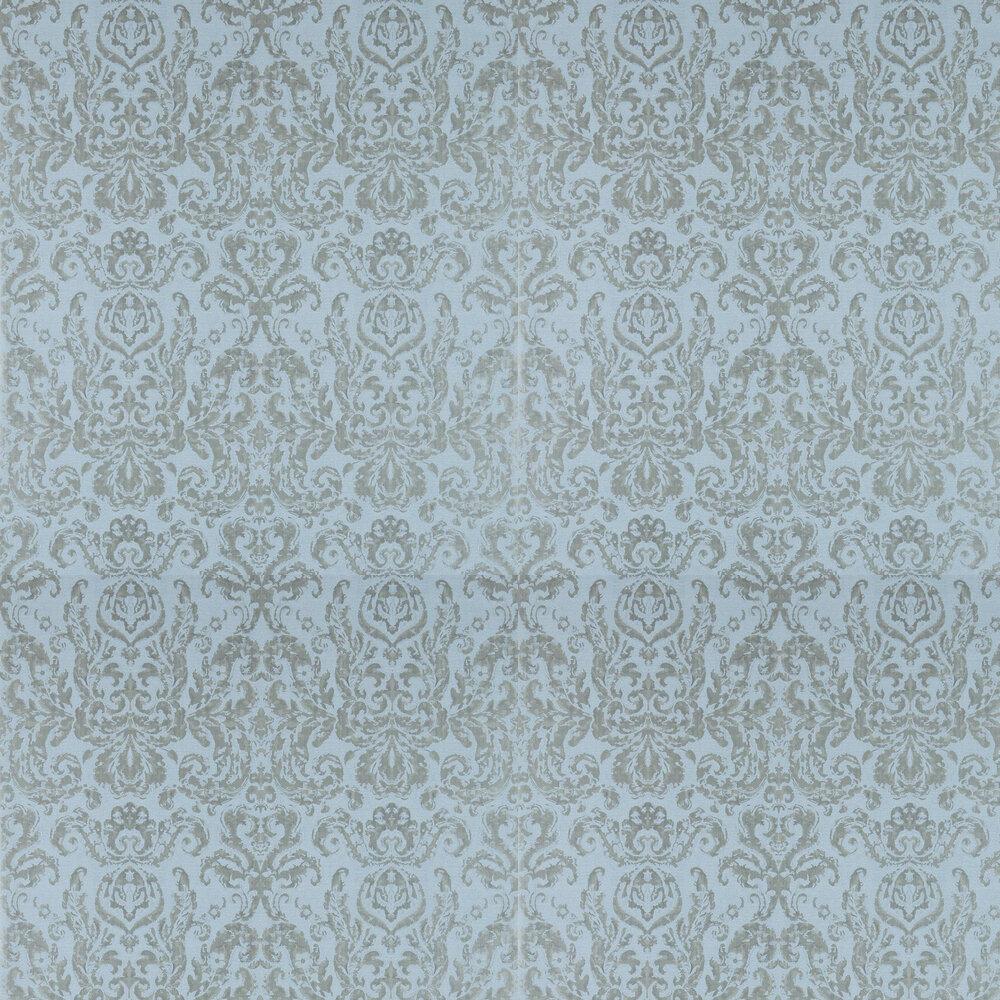 Brocatello Wallpaper - Stockholm Blue - by Zoffany