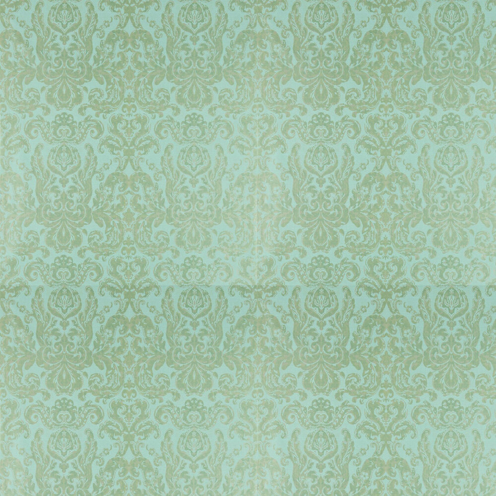 Brocatello Wallpaper - Verdigris - by Zoffany