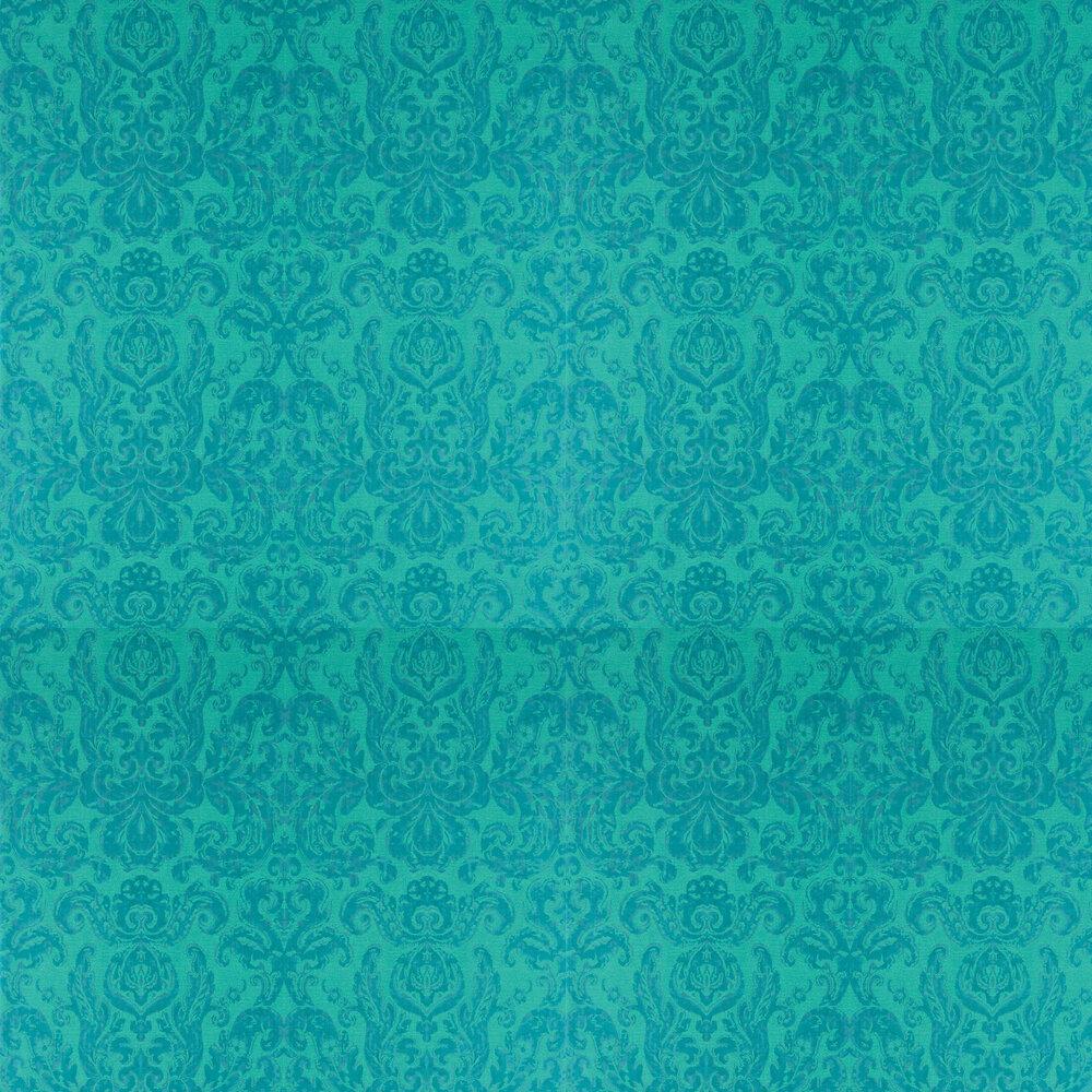 Brocatello Wallpaper - Peacock - by Zoffany