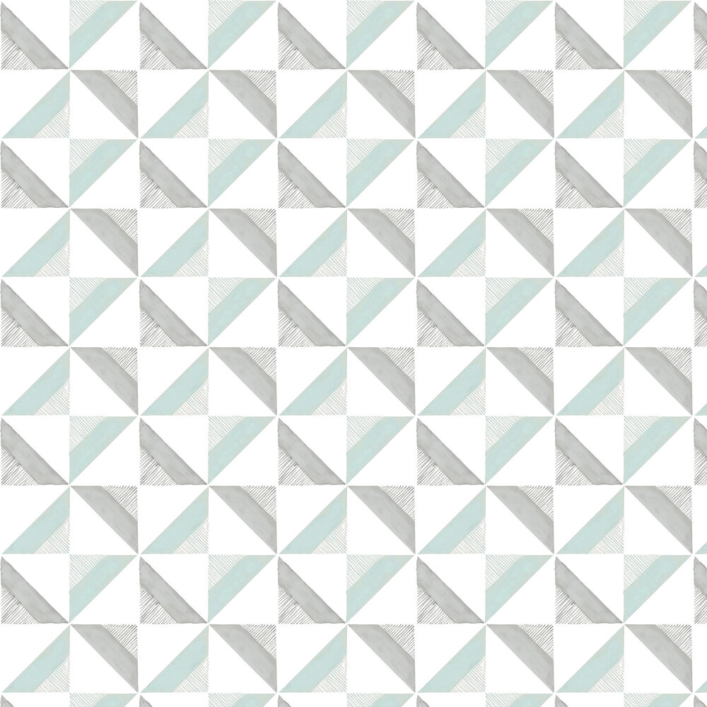 Louise Body Chalk Tile Blue  / Grey  Wallpaper - Product code: Chalk Tile