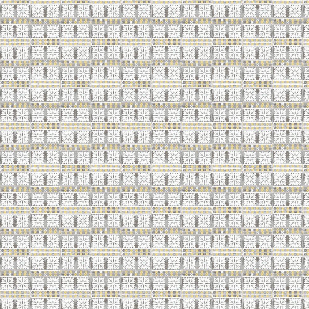Flora Tile Wallpaper - Grey - by Louise Body