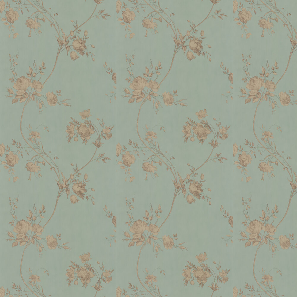 Darcy Wallpaper - Eau de Nil - by Colefax and Fowler