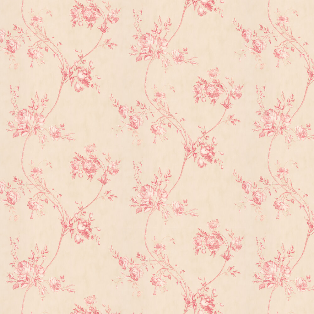 Darcy Wallpaper - Red - by Colefax and Fowler