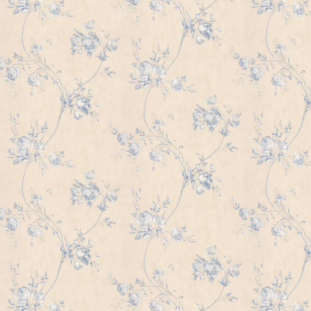 Darcy Wallpaper - Blue - by Colefax and Fowler