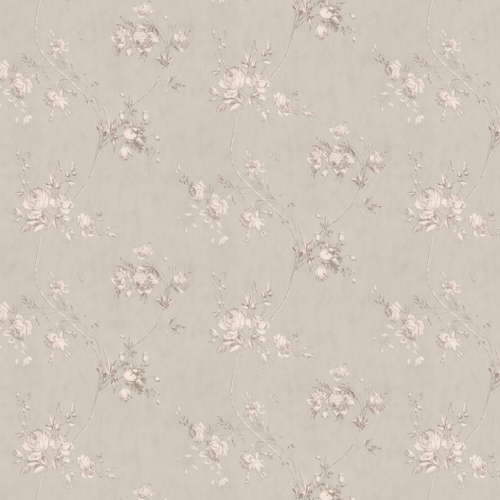 Darcy Wallpaper - Grey - by Colefax and Fowler