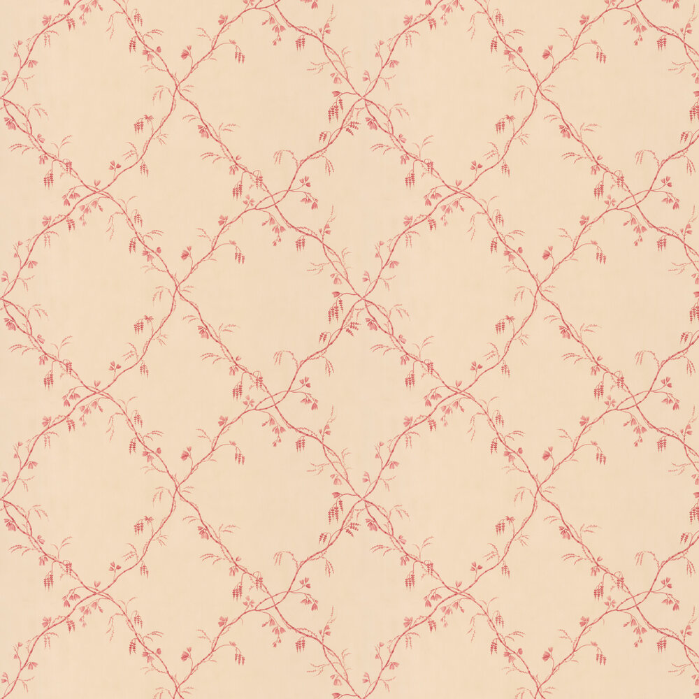Roussillon Wallpaper - Red - by Colefax and Fowler