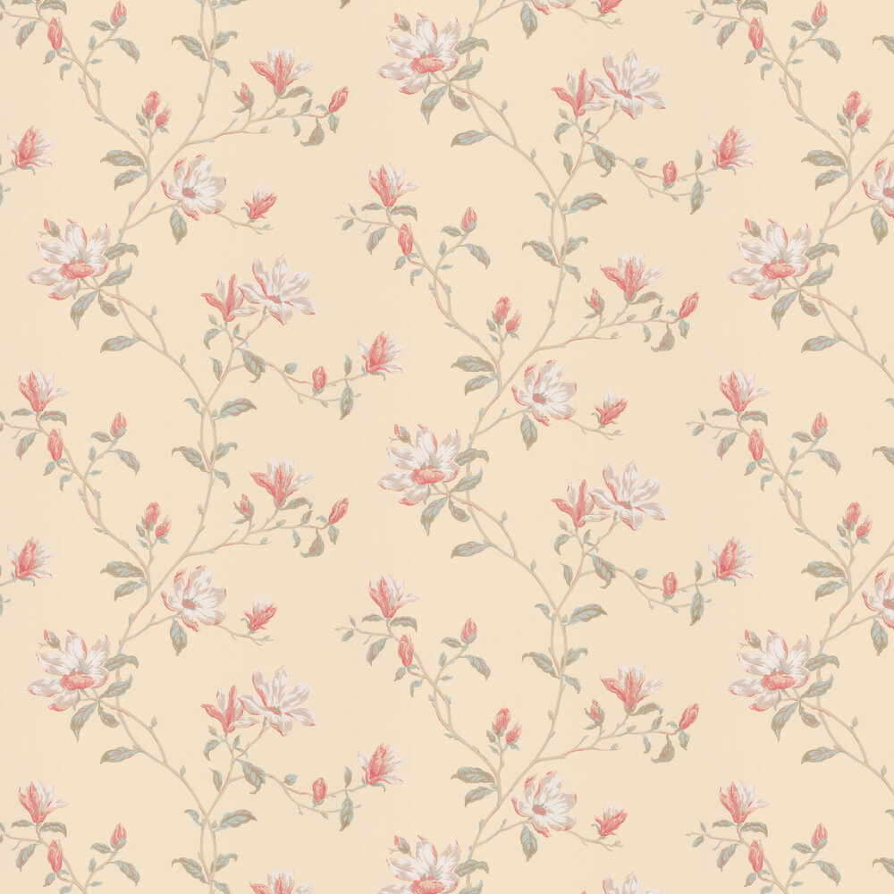 Marchwood By Colefax And Fowler Pink Beige Wallpaper 797604