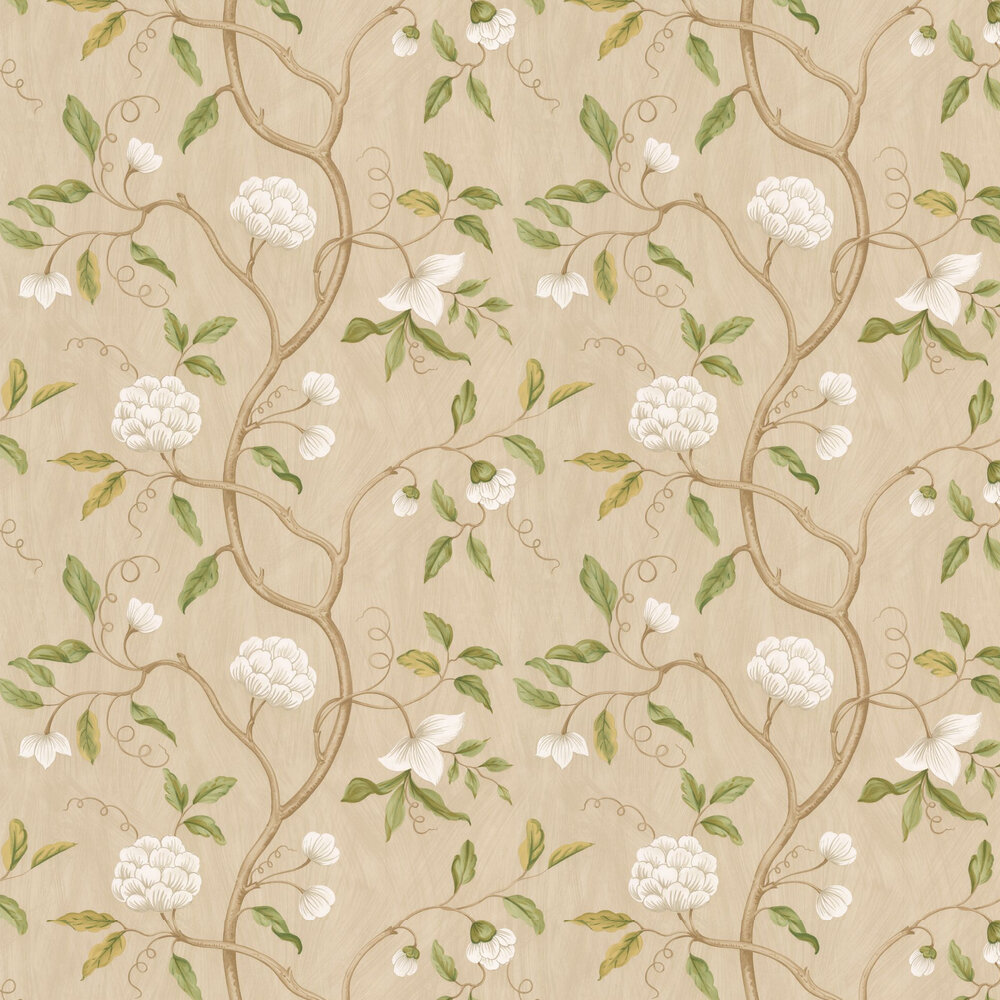 Snow Tree Wallpaper - Cream - by Colefax and Fowler