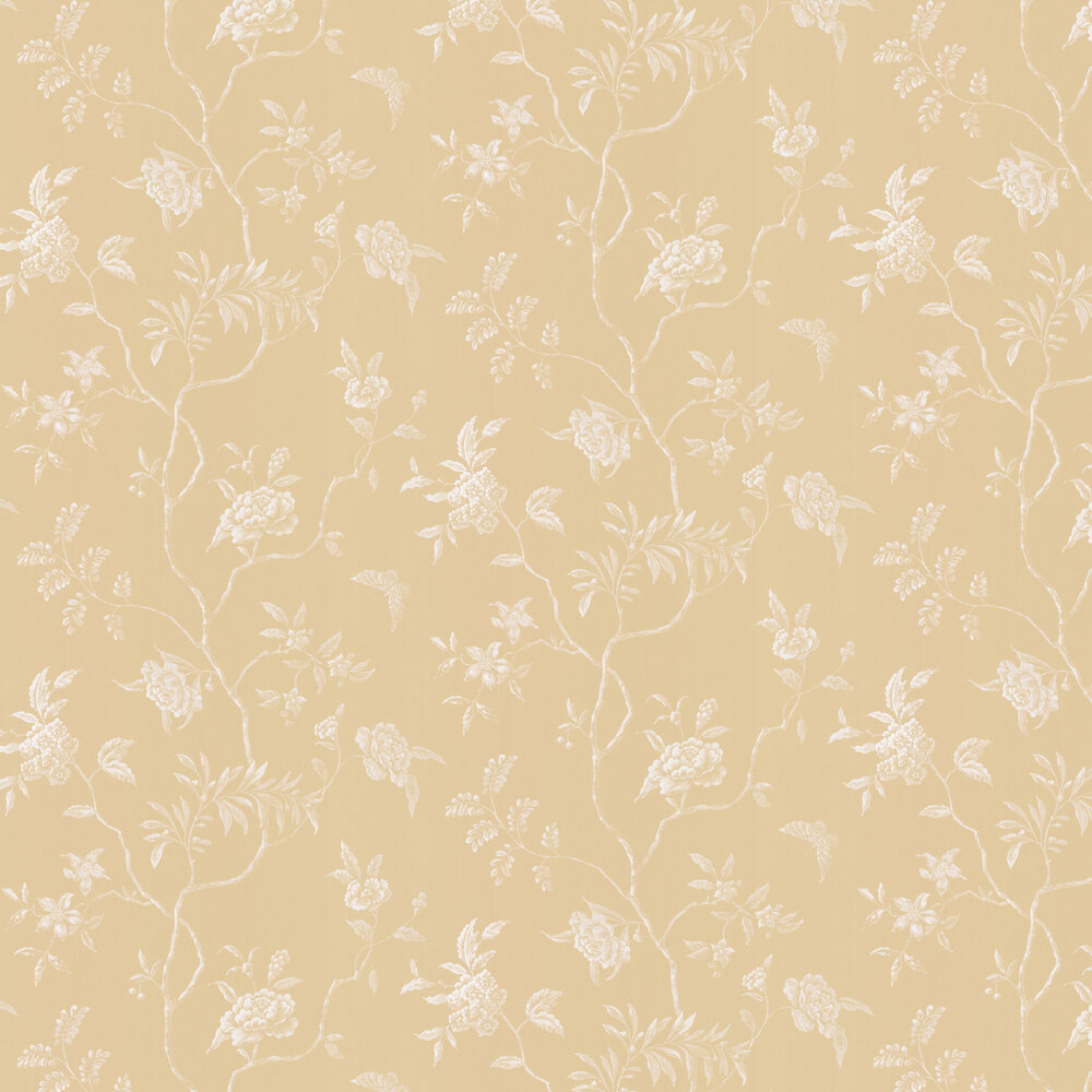 Delancey Wallpaper - Yellow - by Colefax and Fowler