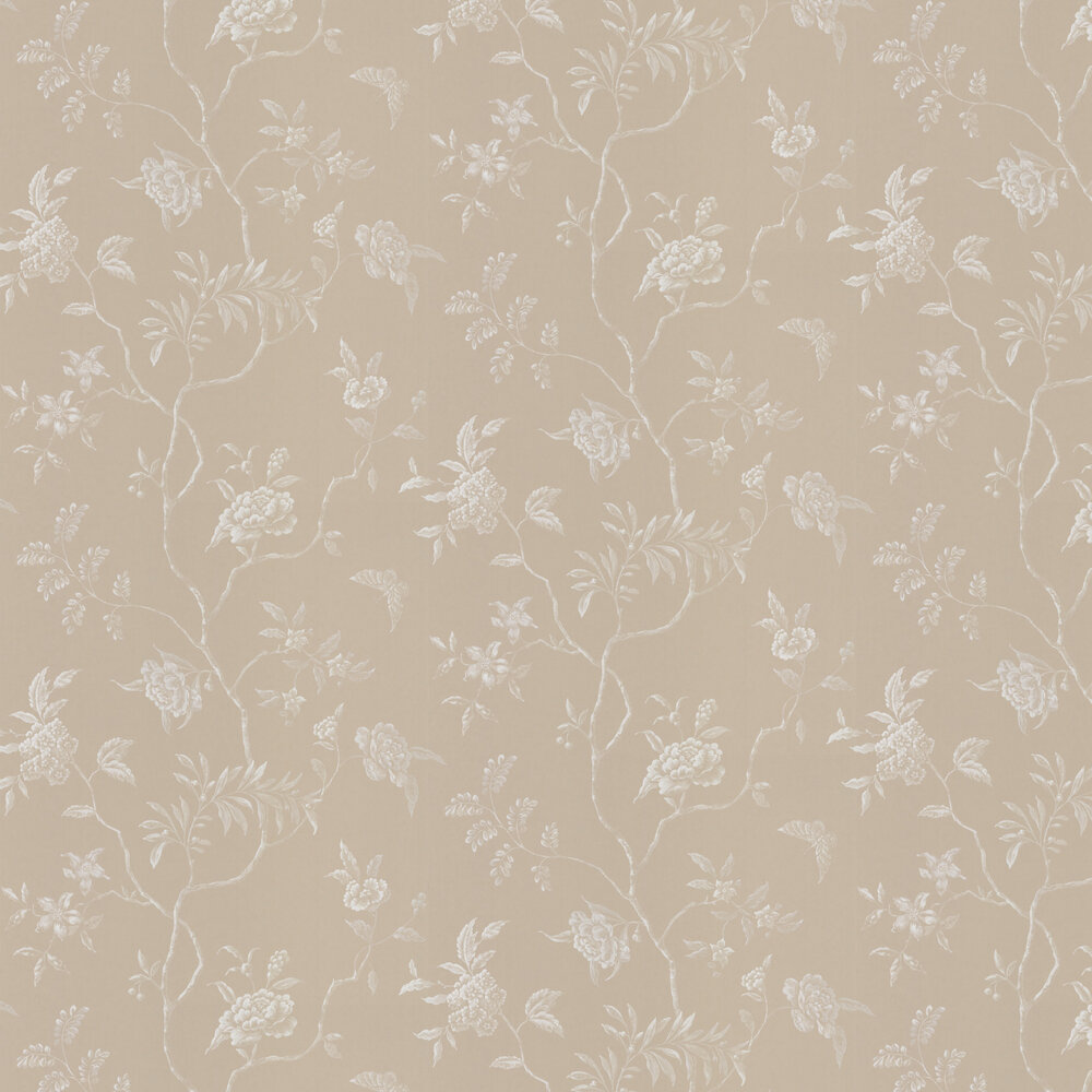 Delancey Wallpaper - Beige - by Colefax and Fowler