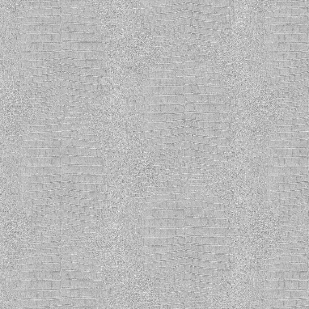 Albany Crocodile Pattern Metallic Silver Wallpaper - Product code: 474145