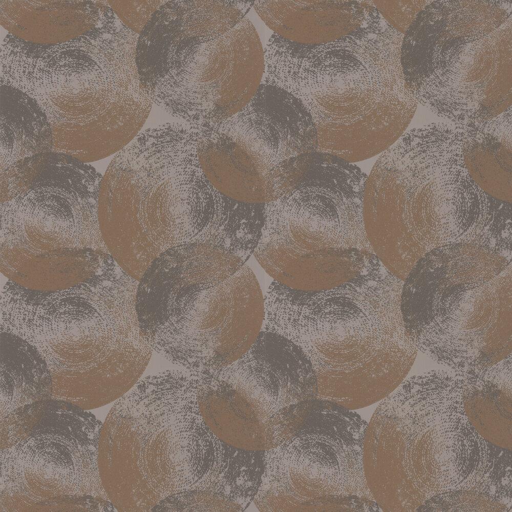 Ellipse Wallpaper - Copper / Granite - by Anthology