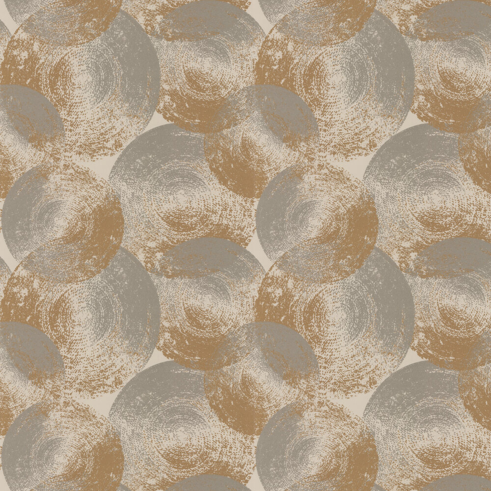 Ellipse Wallpaper - Jute / Clay - by Anthology