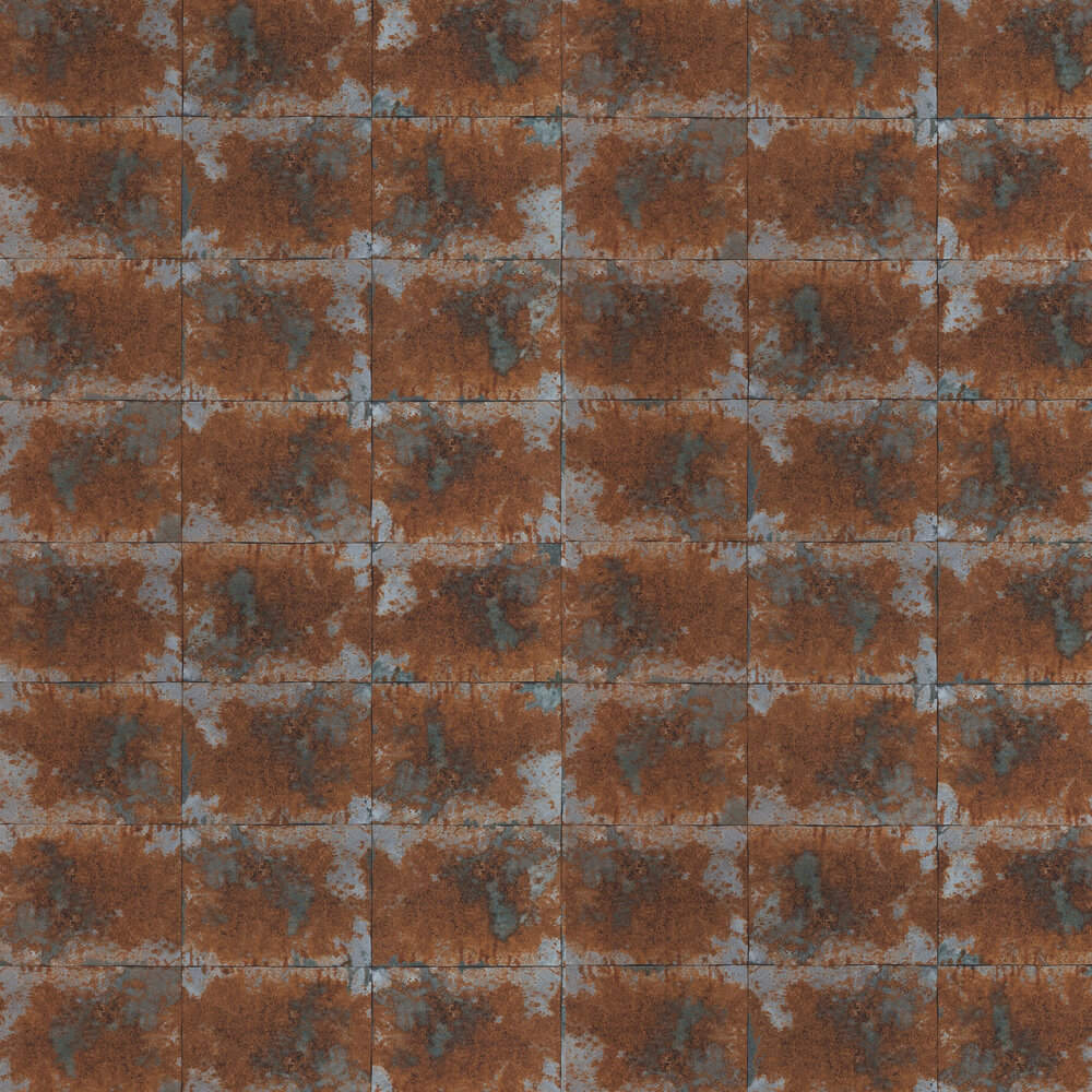 Oxidise Wallpaper - Copper / Slate - by Anthology