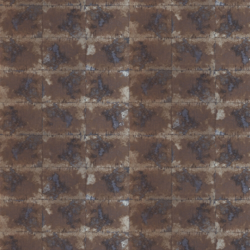 Oxidise Wallpaper - Azurite / Mink - by Anthology