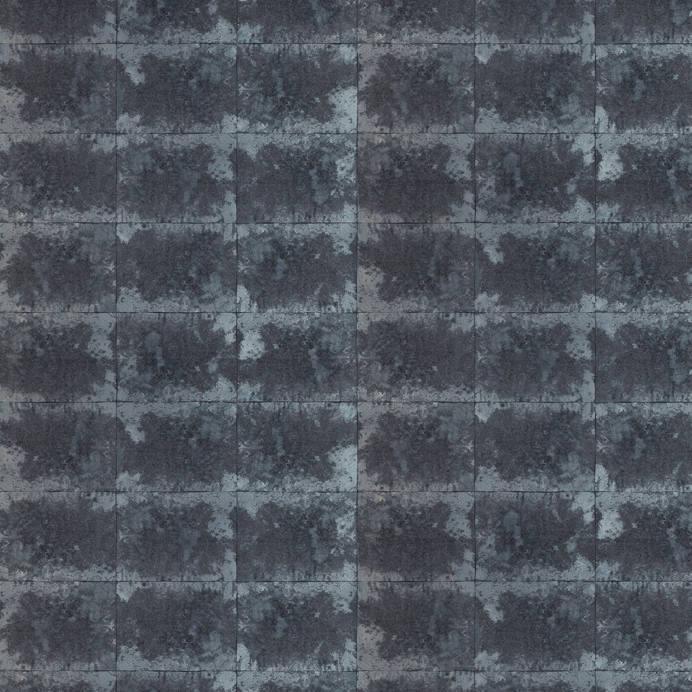 Oxidise Wallpaper - Graphite / Titanium - by Anthology