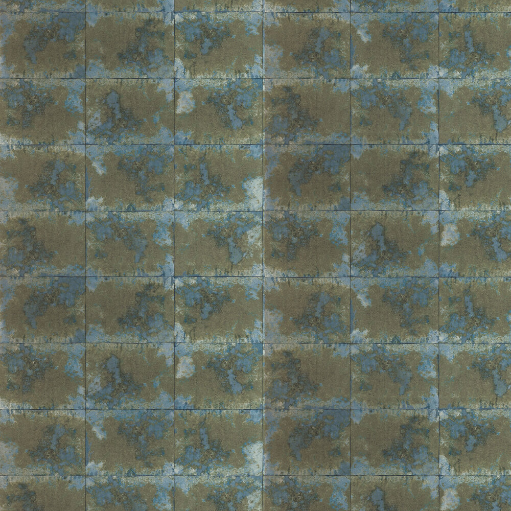 Oxidise Wallpaper - Moonstone / Brass - by Anthology