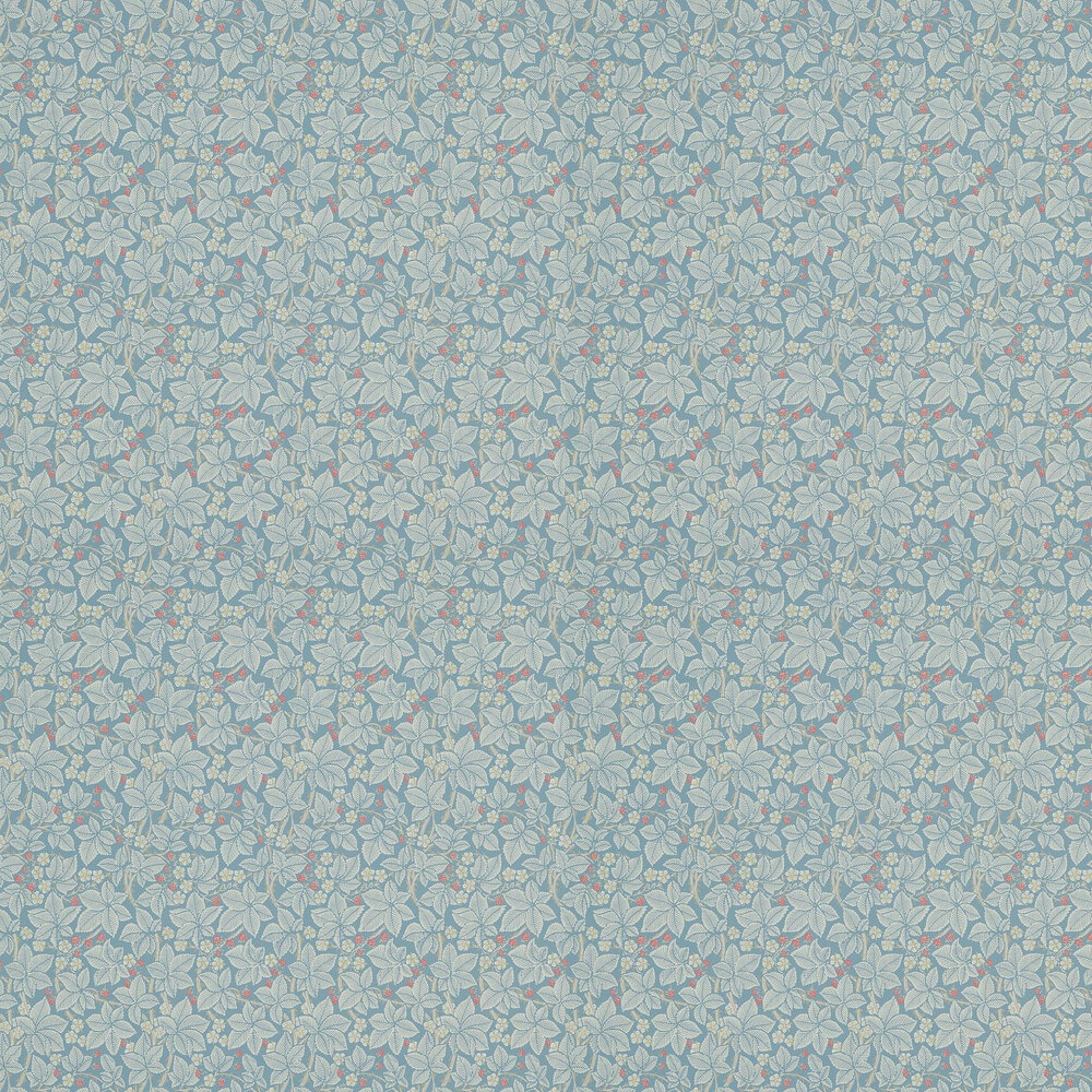 Bramble Wallpaper - Pale Blue - by Morris