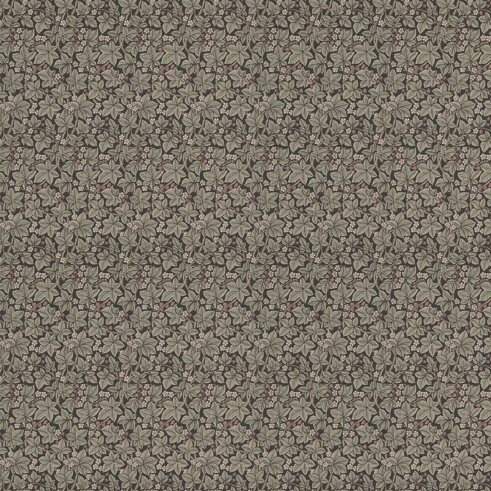 Bramble Wallpaper - Charcoal - by Morris