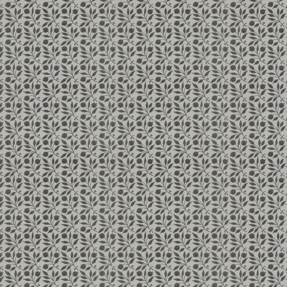 Rosehip Wallpaper - Black - by Morris