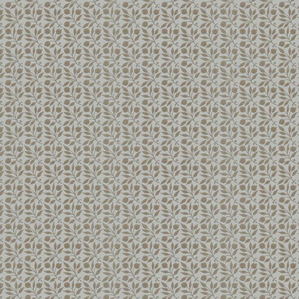 Rosehip Wallpaper - Linen - by Morris