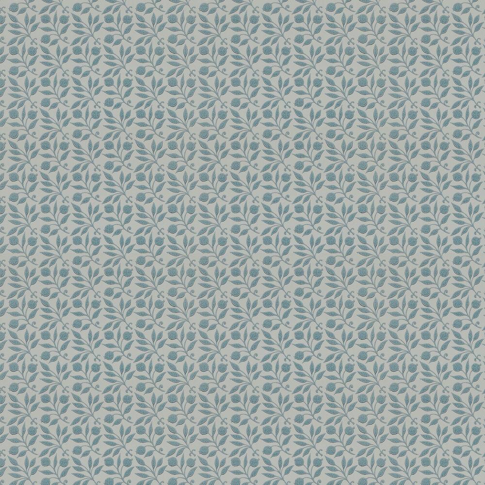 Morris Rosehip Mineral Blue Wallpaper - Product code: 214710