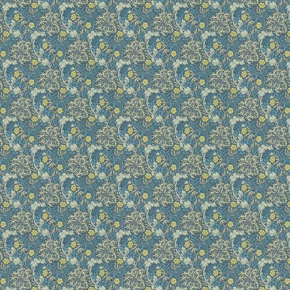 Morris Seaweed Wallpaper - Ink / Woad - by Morris