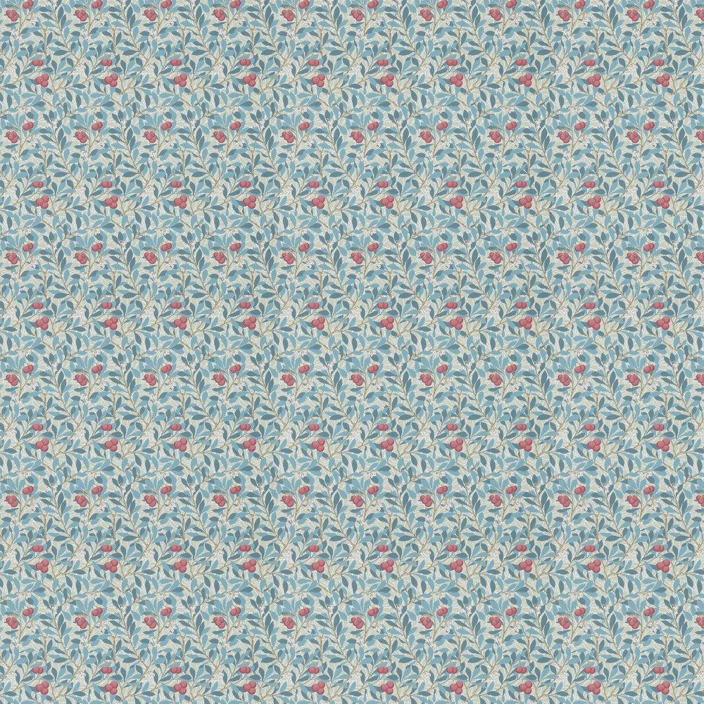 Arbutus Wallpaper - Woad / Russet - by Morris