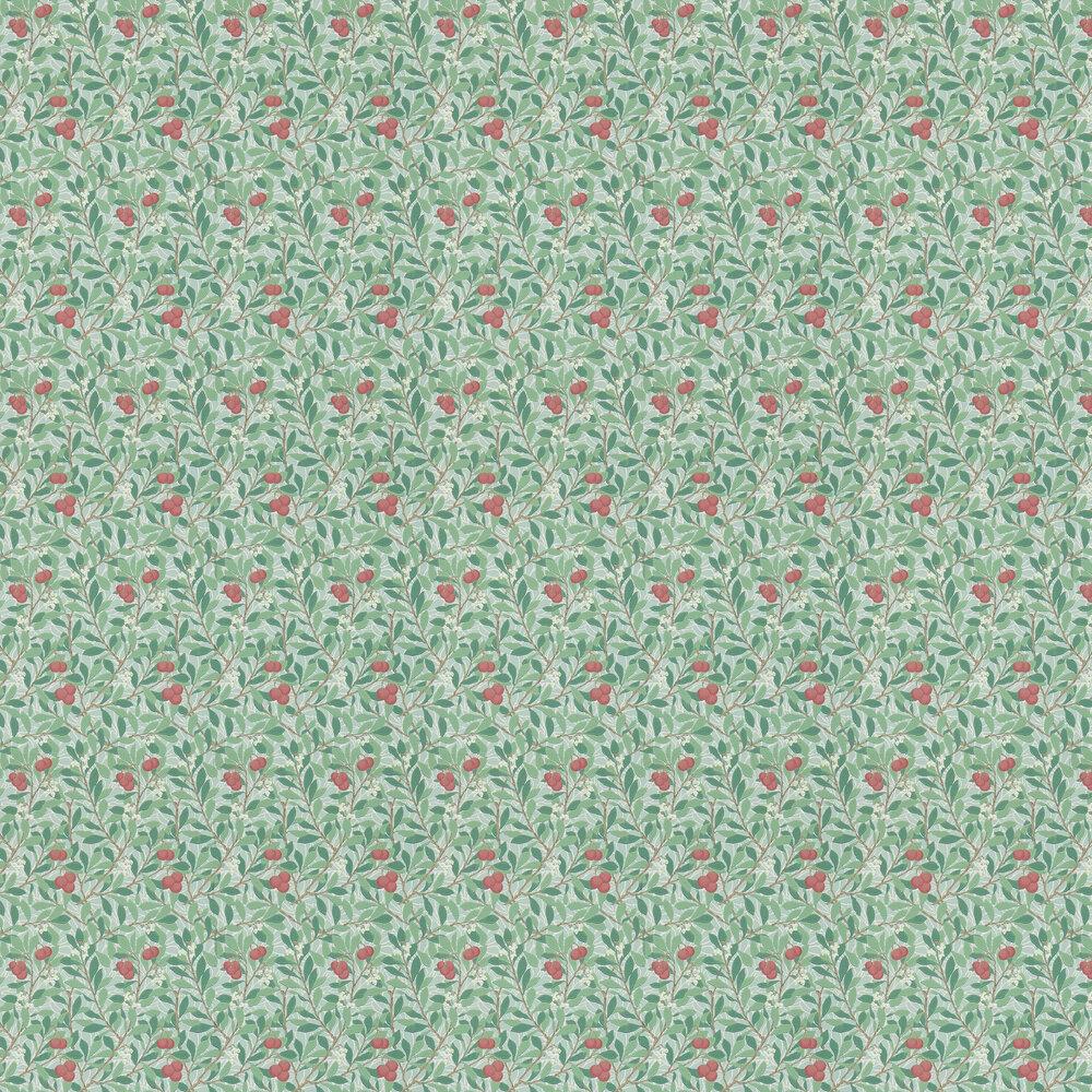 Arbutus Wallpaper - Thyme / Coral - by Morris