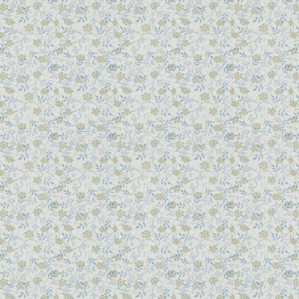 Jasmine Wallpaper - Ecru / Woad - by Morris