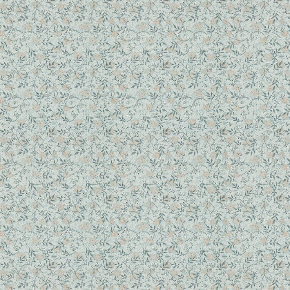 Jasmine Wallpaper - Silver / Charcoal - by Morris