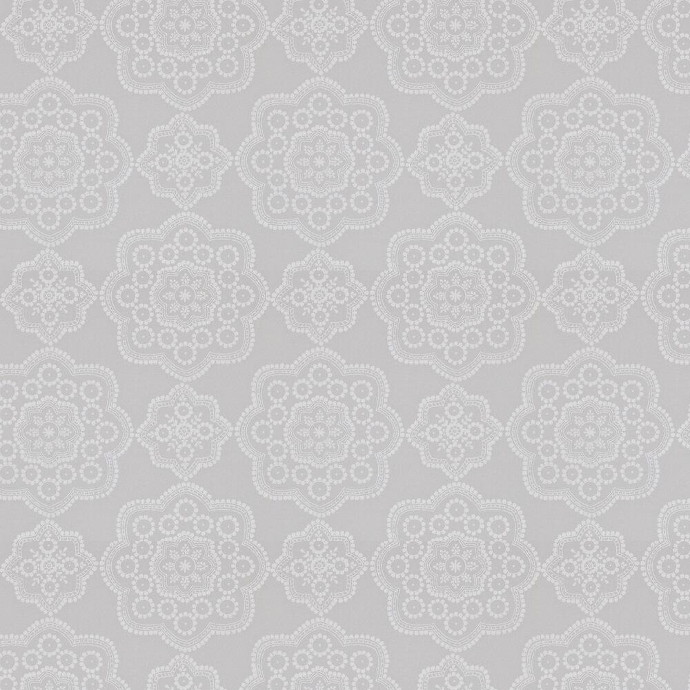 Odetta Wallpaper - Harbour Grey - by Harlequin