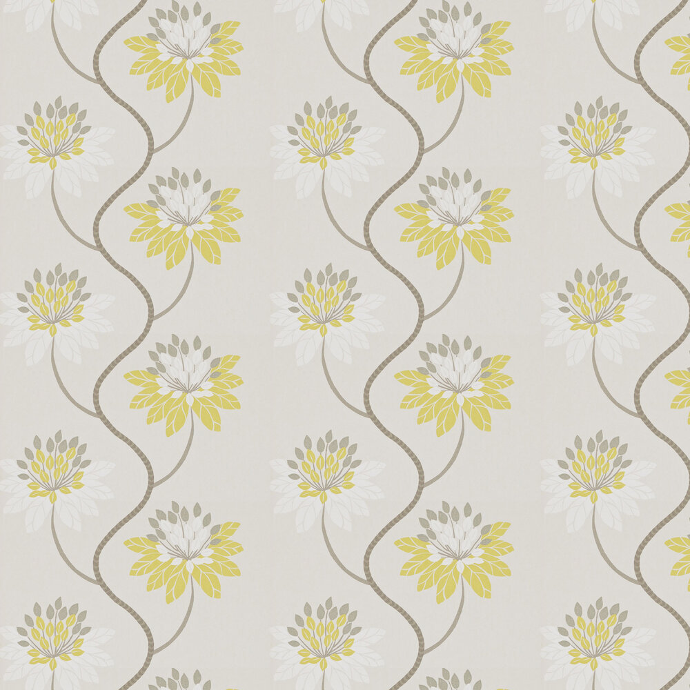Harlequin Eloise Chartreuse and Warm Grey Wallpaper - Product code: 111190