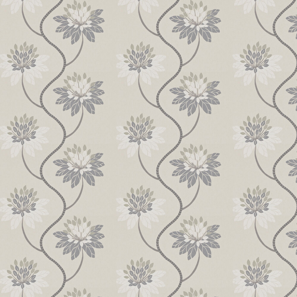 Harlequin Eloise Powder Blue and Harbour Grey Wallpaper - Product code: 111191