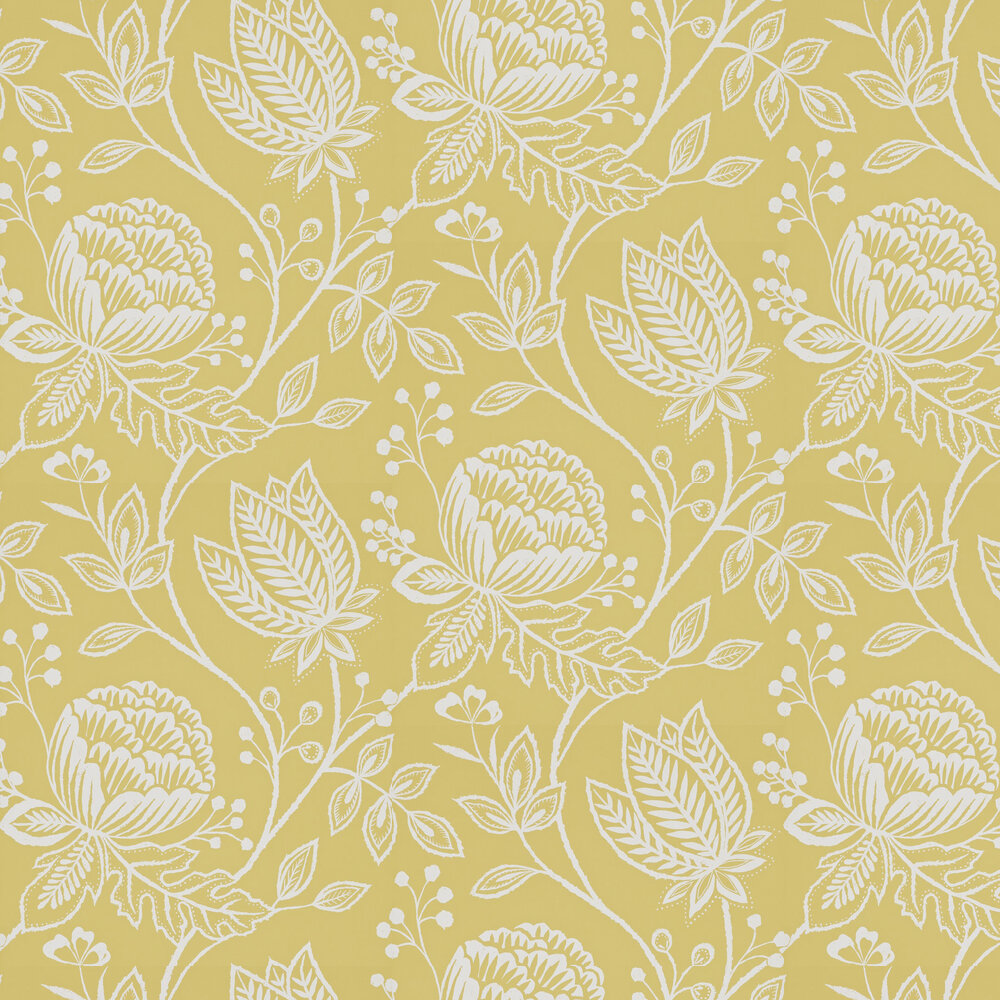 Mirabella Wallpaper - Chartreuse - by Harlequin
