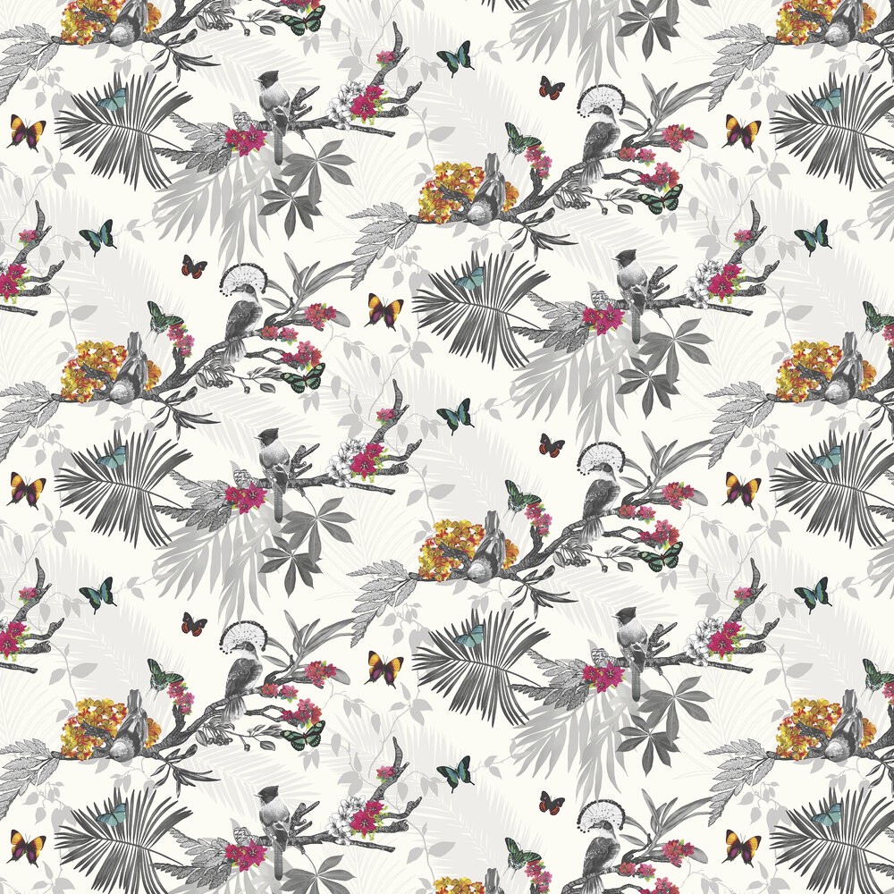Arthouse Mystical Forest White Multi Wallpaper - Product code: 664802