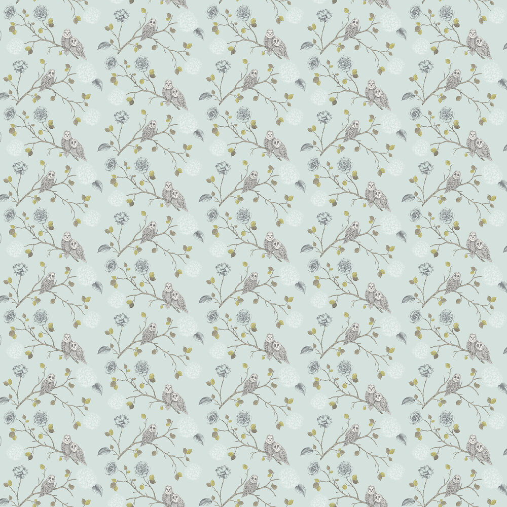 Arthouse Night Owl Duck Egg Wallpaper - Product code: 665001