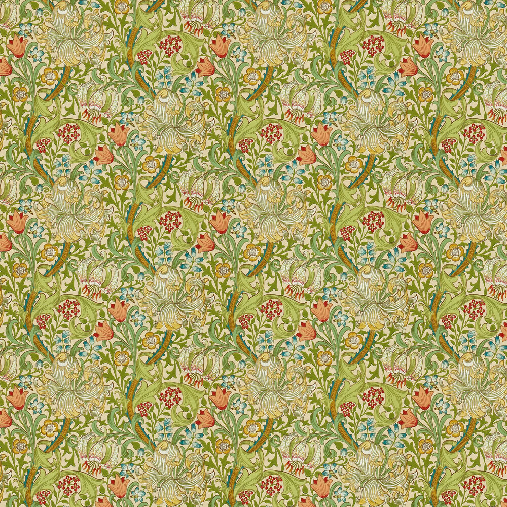 Golden Lily Wallpaper - Pale Biscuit - by Morris