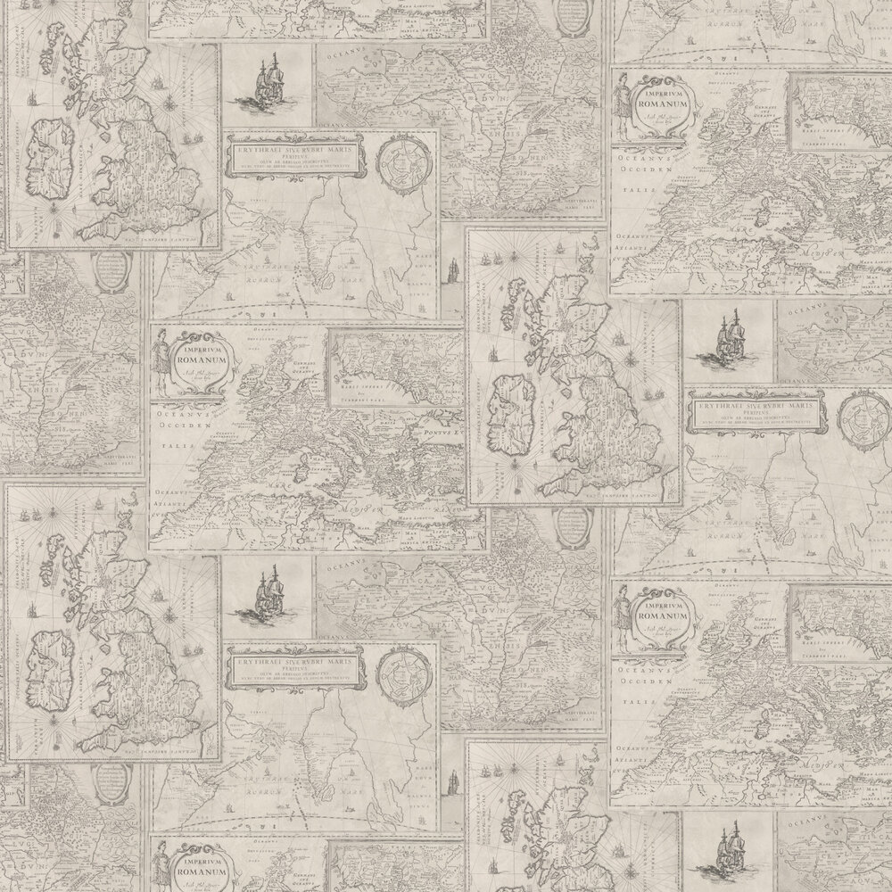 Mulberry Home Bohemian Travels Silver Wallpaper - Product code: FG077J125