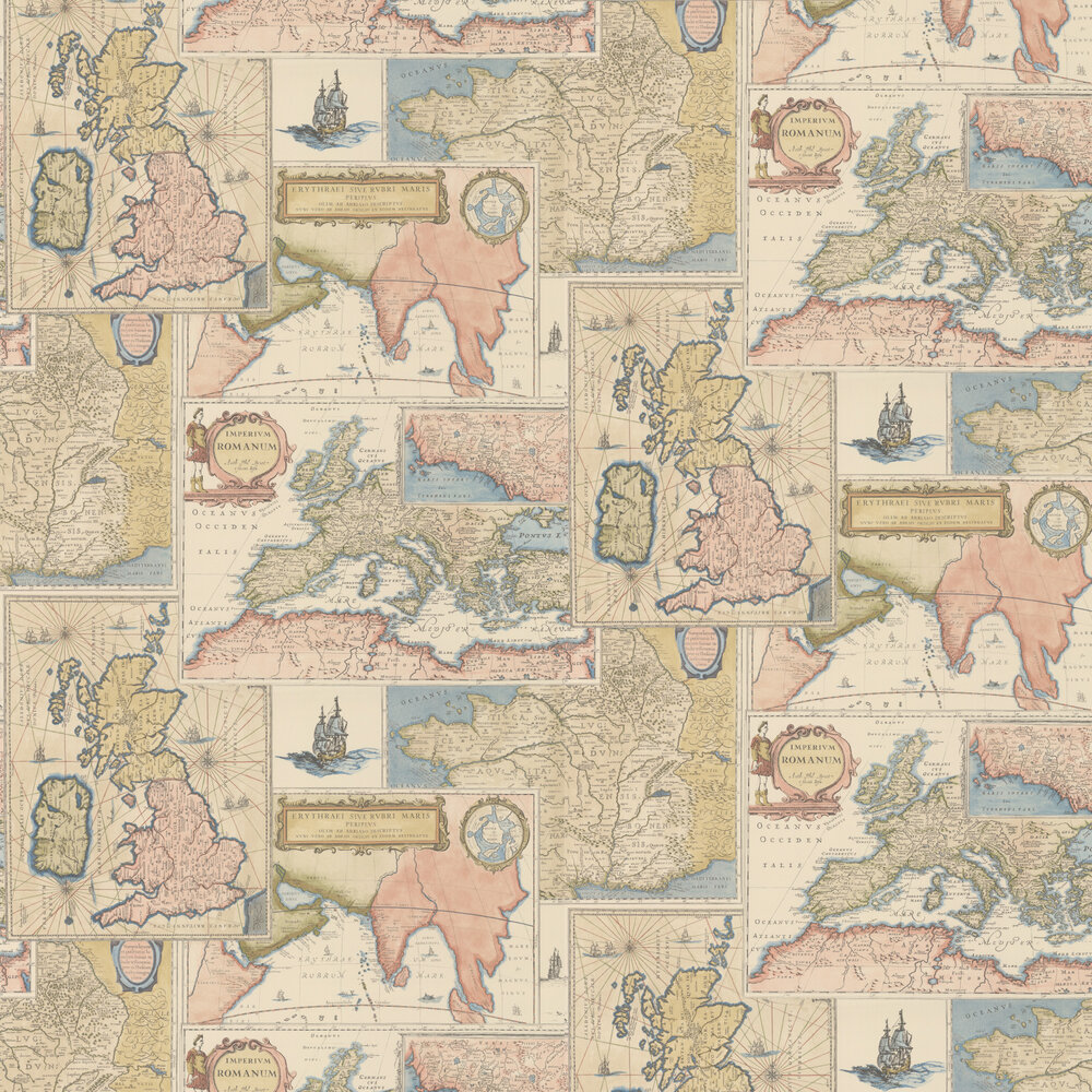 Bohemian Travels Wallpaper - Multi - by Mulberry Home