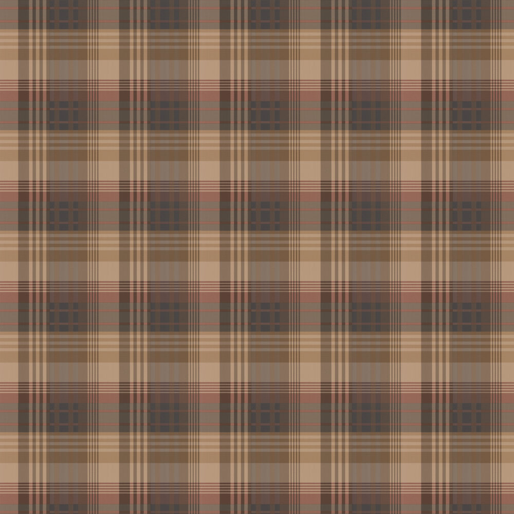 Mulberry Home Mulberry Ancient Tartan Red / Charcoal Wallpaper - Product code: FG079V78