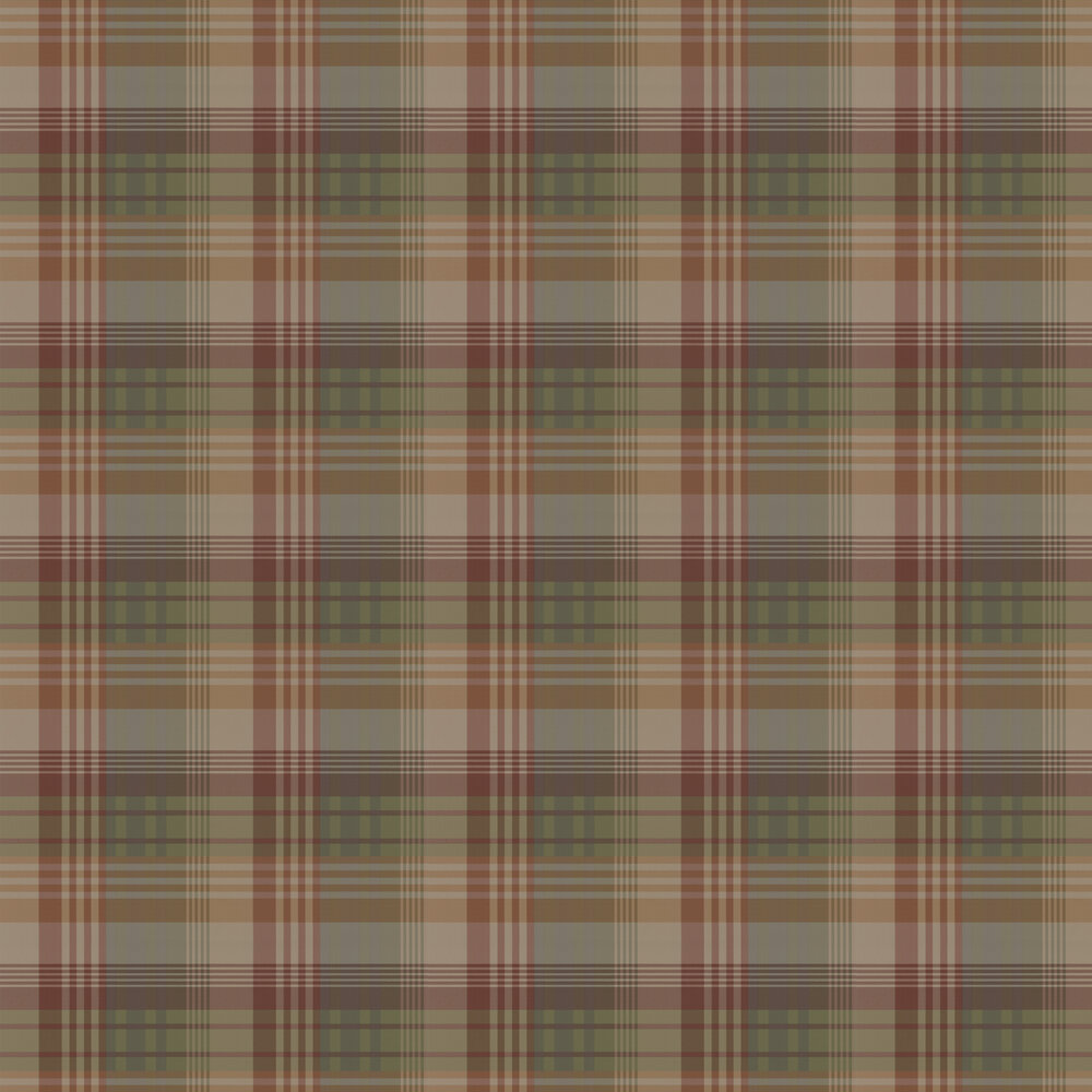 Mulberry Ancient Tartan Wallpaper - by Mulberry Home