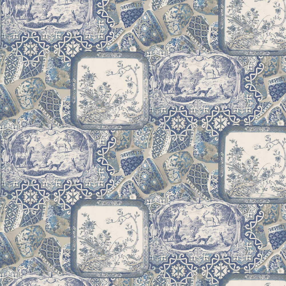 Mulberry Home Mulberry China Indigo  Wallpaper - Product code: FG080H10