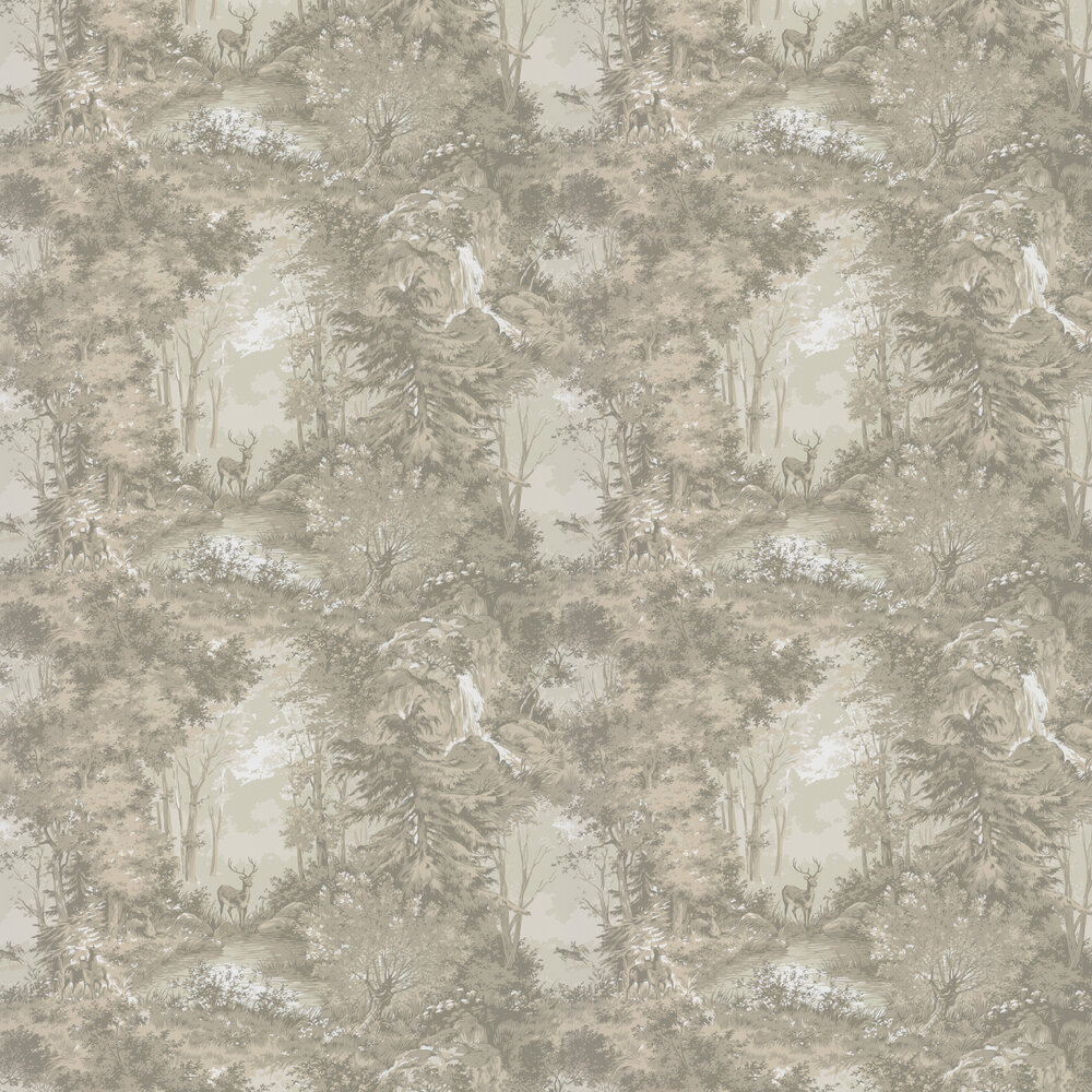 Torridon Wallpaper - Charcoal  - by Mulberry Home