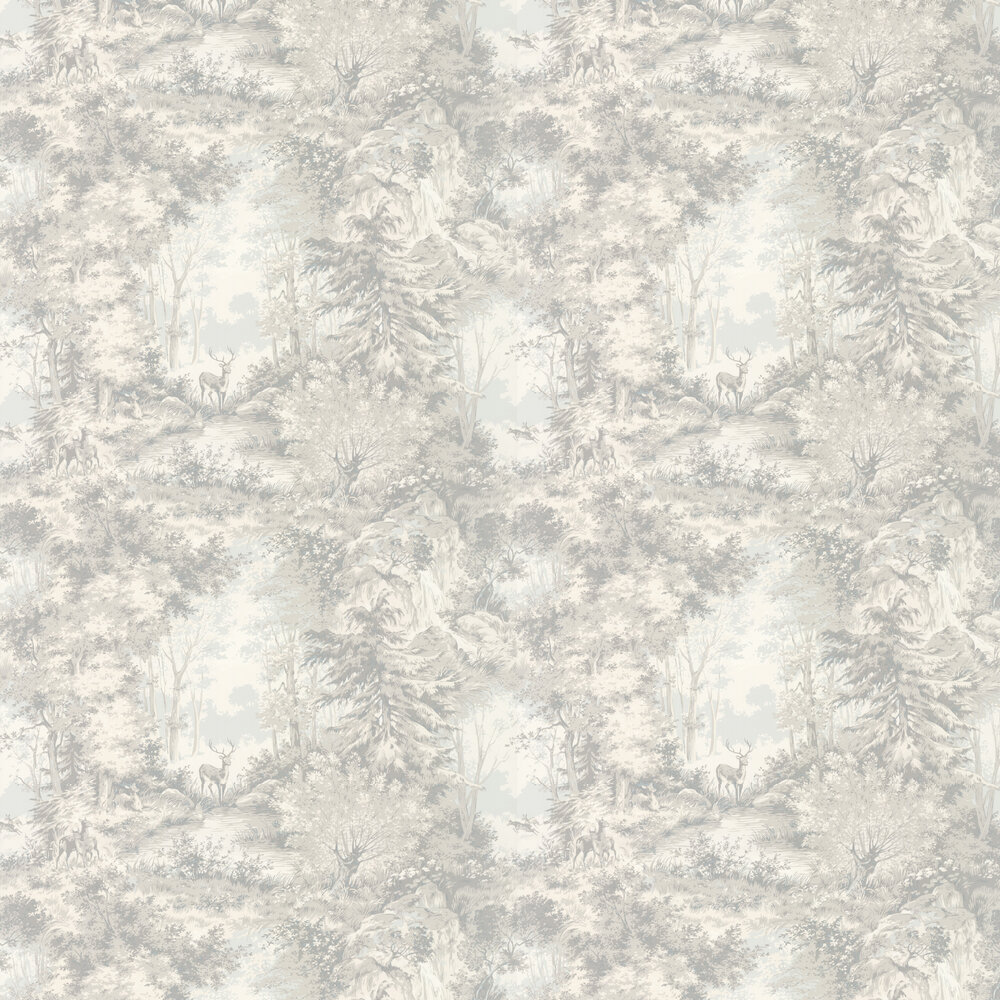 Mulberry Home Torridon Silver / Grey Wallpaper - Product code: FG076J125