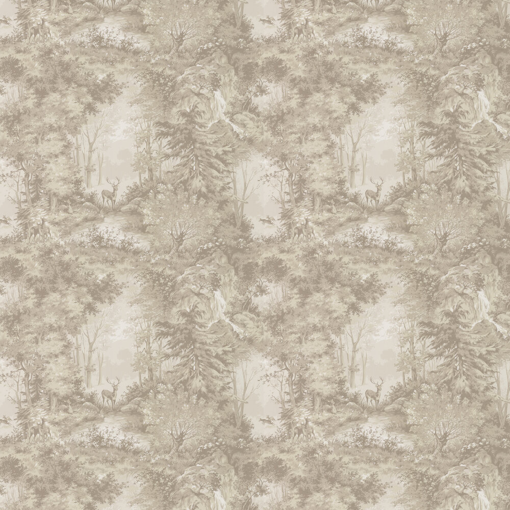 Torridon Wallpaper - Sand - by Mulberry Home