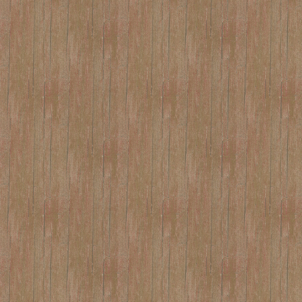 Wood Panel Wallpaper - Rust - by Mulberry Home